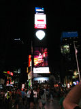 New York City,August 3nd:Times Square by night in Manhattan in New York City Royalty Free Stock Image