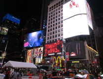 New York City,August 3nd:Times Square by night in Manhattan in New York City Stock Images