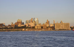 New York City,August 3rd:Brooklin Panorama from Hudson river at sunset in New York City Royalty Free Stock Photography
