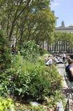 New York City august 3rd: Bryant Park från Manhattan i New York Royaltyfri Bild