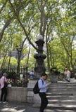 New York City august 3rd: Bryant Park från Manhattan i New York Arkivbild