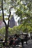 New York City august 3rd: Bryant Park från Manhattan i New York Royaltyfri Fotografi