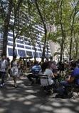 New York City august 3rd: Bryant Park från Manhattan i New York Royaltyfria Foton