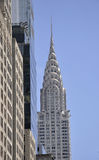 New York City,august 3rd:Chrysler Tower close up from Manhattan in New York stock image