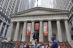 New York City,august 3rd:Federal Hall National Museum from Manhattan in New York Royalty Free Stock Photos