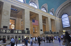 New York City,august 3rd:Grand Central Station Main Hall interior from Manhattan in New York Royalty Free Stock Image