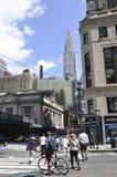 New York City august 3rd: Grand Central stationsbyggnad från Manhattan i New York Royaltyfria Bilder
