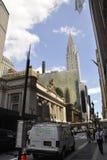 New York City august 3rd: Grand Central stationsbyggnad från Manhattan i New York Arkivfoto