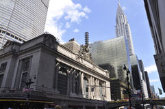 New York City august 3rd: Grand Central stationsbyggnad från Manhattan i New York Royaltyfri Bild