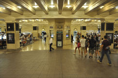 New York City august 3rd: Grand Central stationsinre från Manhattan i New York Royaltyfri Fotografi