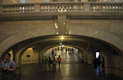 New York City august 3rd: Inre sikt för Grand Central station från Manhattan i New York Royaltyfria Foton