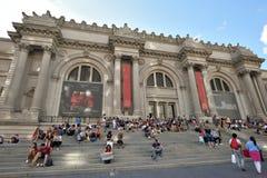 People near Metropolitan Museum, NYC stock image