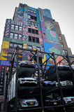 New York City automated multi level outdoor car parking garage. Royalty Free Stock Photo