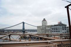 New York City from a beautiful bridge and city photo Stock Photos