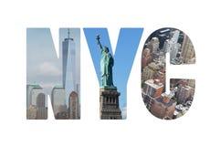 New York City begrepp Arkivfoton
