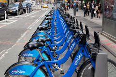 New York City Bikes Royalty Free Stock Image