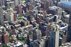 New York City bird's eye view Royalty Free Stock Images