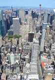 New York City bird's eye view Royalty Free Stock Photography
