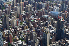 New York City bird's eye view Stock Images