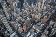 New York city birds eye view Stock Images