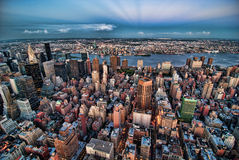 New York City bis zum Night Lizenzfreies Stockfoto