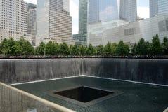 New York City: Bodennullpunkt 9/11 Gedenkpark h Lizenzfreies Stockfoto