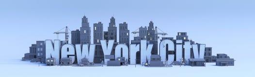 New York City bokstäver Arkivbilder
