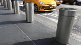 New York City Bollards stock video