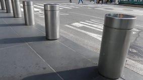 New York City Bollards stock footage