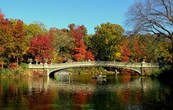 New York City: Bow Bridge in Central Parkl Royalty Free Stock Image