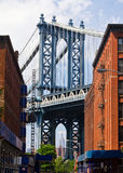 New York City Bridge Scene Stock Image