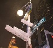 New York City, Broadway fotos de archivo