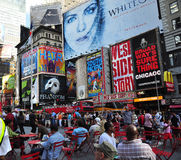 New york city - broadway billboards. A shot of times square - 42 street Royalty Free Stock Photography