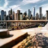 New york city. Brooklin bridge in U.S.A royalty free stock photo