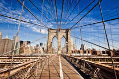 New York City Brooklyn Bridge Royalty Free Stock Photography