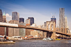 New York City Brooklyn Bridge Royalty Free Stock Photos