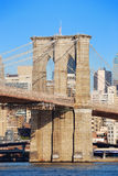 New York City Brooklyn Bridge closeup Royalty Free Stock Images