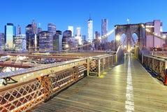 New York City with brooklyn bridge, Lower Manhattan, USA Royalty Free Stock Photos