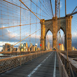 New York City Brooklyn Bridge in Manhattan Royalty Free Stock Images