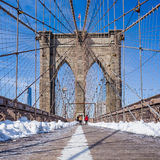 New York City Brooklyn Bridge in Manhattan Stock Images