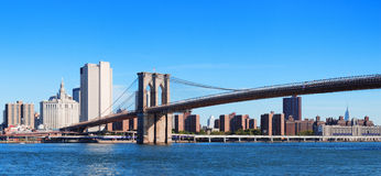 New York City Brooklyn Bridge panorama Stock Image