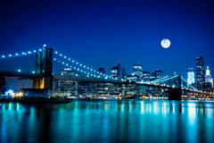New York City Brooklyn bro Royaltyfri Bild