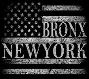 New York City, Brooklyn. Stylized American flag. Grunge backgrou. Nd. Typography, t-shirt graphics, poster fashion style Royalty Free Stock Image