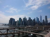 New York City. From the brookyln Bridge royalty free stock images