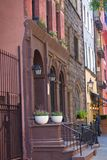 New York City Brownstone Apartments Royalty Free Stock Photo