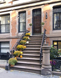 New York City brownstone in autumn Royalty Free Stock Image