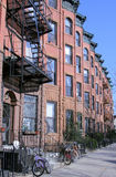 New York City brownstones Royalty Free Stock Images
