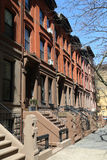 New York City brownstones at historic Brooklyn Heights neighborhood Royalty Free Stock Photo