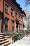 New York City brownstones at historic Brooklyn Heights neighborhood Stock Images