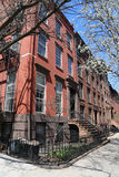 New York City brownstones at historic Brooklyn Heights neighborhood Stock Photos